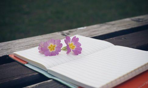 ノート、花