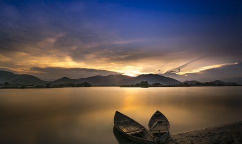 ボート、湖