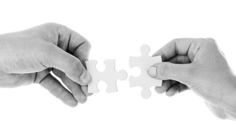 パズル、協力