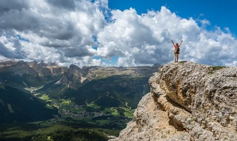 登頂、喜び